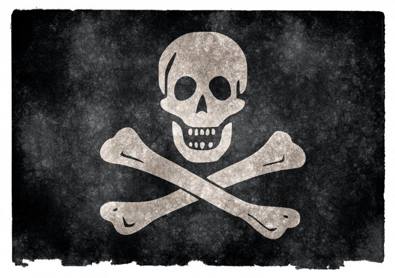 Free Stock Photo of Jolly Roger Grunge Flag Created by Nicolas Raymond
