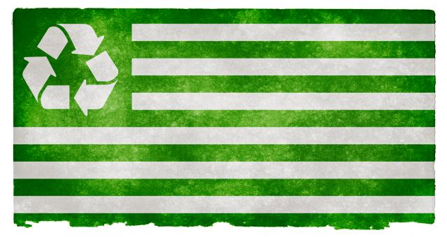 Recycling Grunge Flag - Free Stock Photo