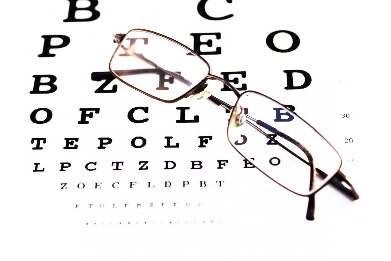 Glasses and chart - Free Medical Stock Photos