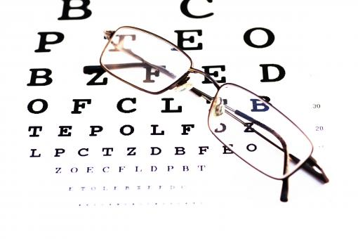 Glasses and chart - Free Stock Photo