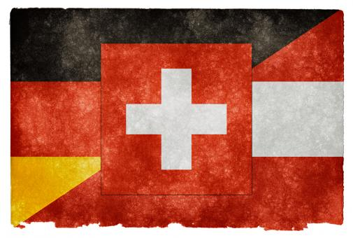 German Language Grunge Flag - Free Stock Photo