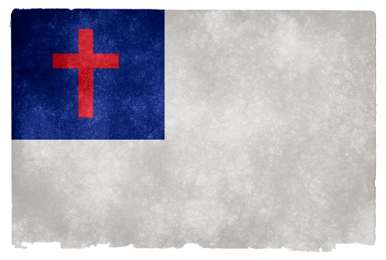 Free Stock Photo of Christianity Grunge Flag Created by Nicolas Raymond