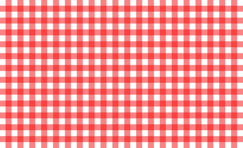 Red and white tablecloth pattern Free Photo