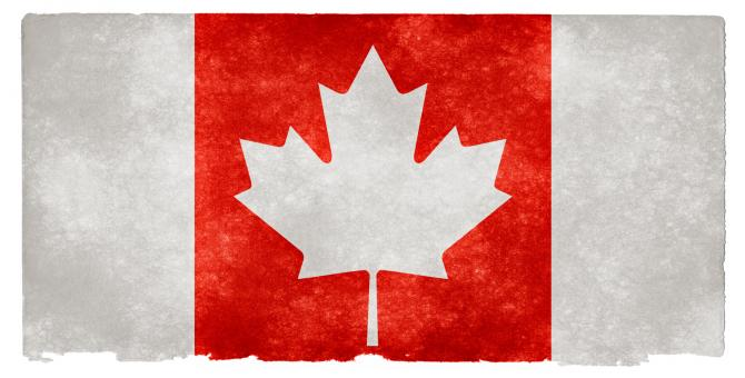 Canada Grunge Flag - Inverted - Free Stock Photo