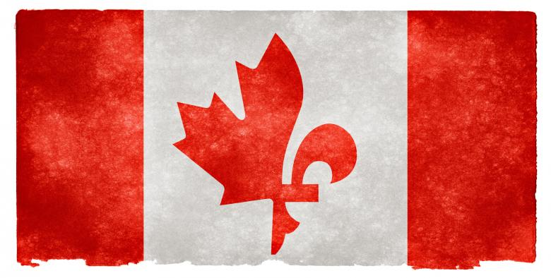 Free Stock Photo of Canada Fusion Grunge Flag Created by Nicolas Raymond