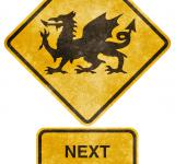 Free Photo - Crossing Road Grunge Sign - Welsh Dragon