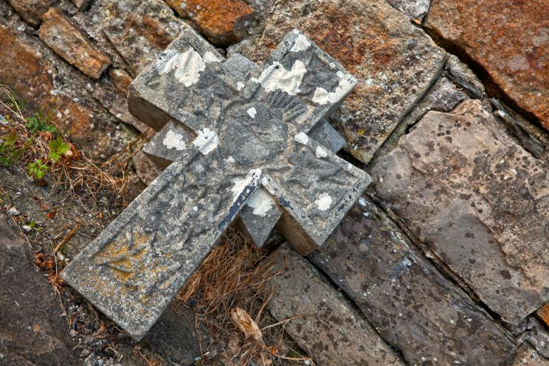 Free Stock Photo of Donegal Cemetery Stone Cross - HDR Created by Nicolas Raymond