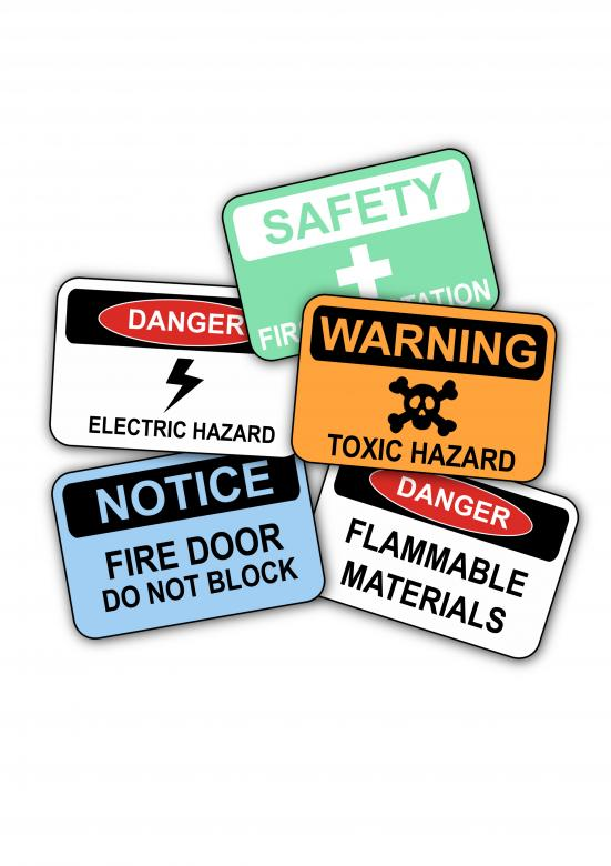 Free Stock Photo of Workplace Safety Signs Created by Matthew P