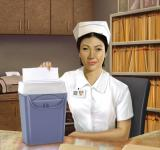 Free Photo - Nurse Shredding Papers