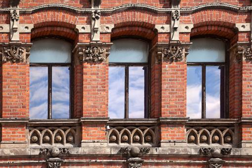 Window Trio - Free Stock Photo