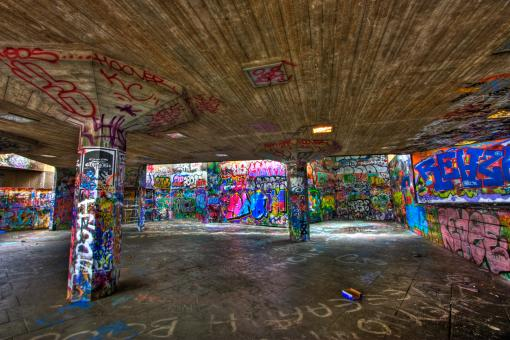 London Graffiti - HDR - Free Stock Photo