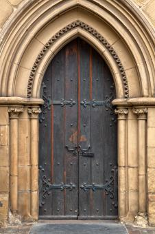 Chapel Door - HDR - Free Stock Photo