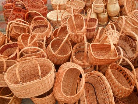 wicker baskets - Free Stock Photo
