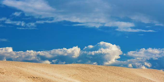 desert and blue sky - Free Stock Photo