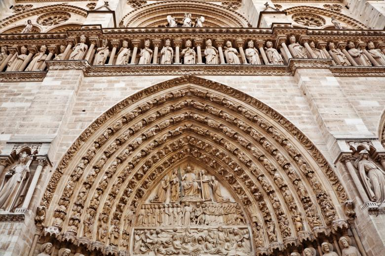 Free Stock Photo of Notre Dame Mural Created by Nicolas Raymond