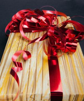 Gift with ribbon - Free Stock Photo