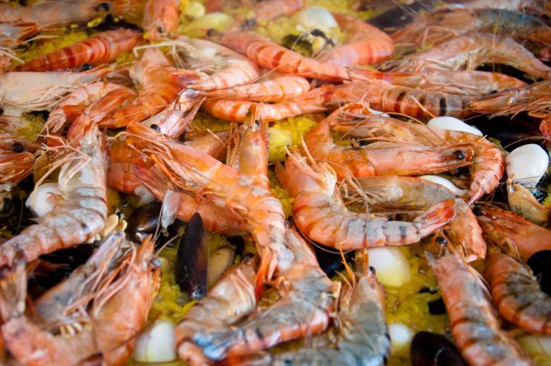 Paella shrimps dish - Free Stock Photos of Food