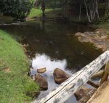 Free Photo - River, Rocks and Wood Bridge