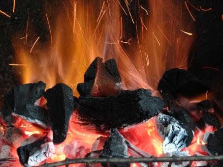 Fire to barbecue - Free Stock Photo