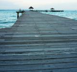 Free Photo - Long Wooden Tropical Pier at sunset