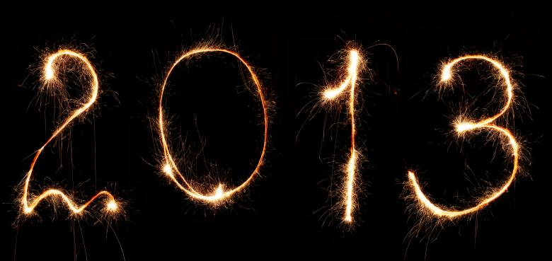 Free Stock Photo of New Year 2013 Created by 2happy