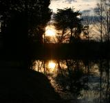 Free Photo - Sunset on the pond
