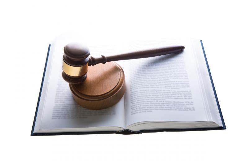 Free Stock Photo of Law - Judges Hammer on Book Created by Geoffrey Whiteway