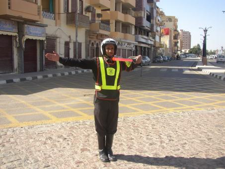 Traffic policeman in Egypt - Free Stock Photo