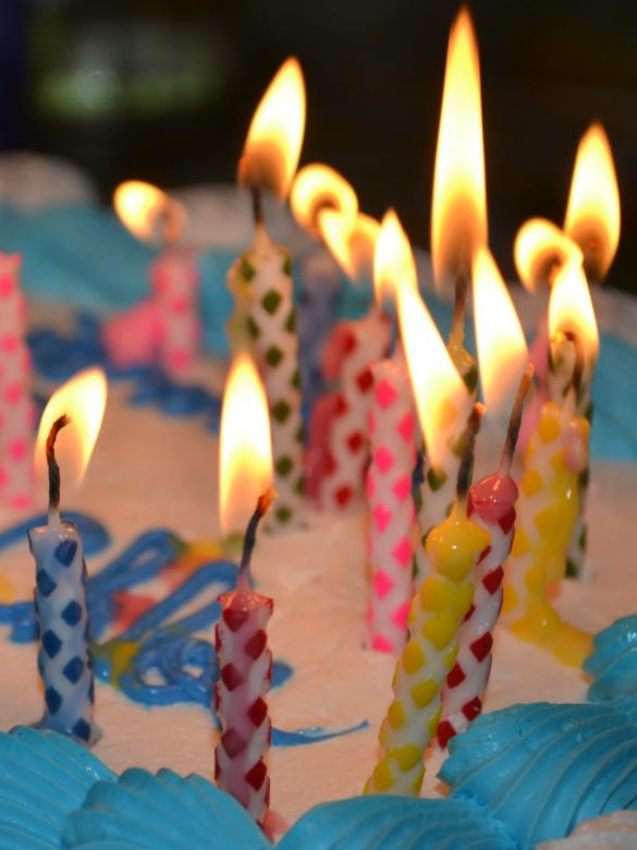 Free Stock Photo of Lit Candles on Birthday Cake Created by Jonathan Harris