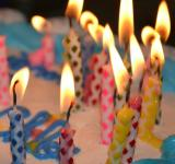 Free Photo - Lit Candles on Birthday Cake