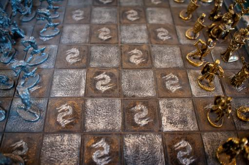 Medieval chess board - Free Stock Photo