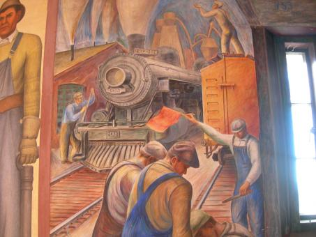 Coit Mural Workmen - Free Stock Photo
