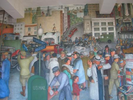 Coit Mural Streetscape - Free Stock Photo
