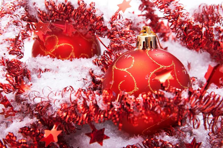 Free Stock Photo of Red Christmas Balls Created by 2happy