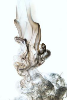 smoke on white - Free Stock Photo