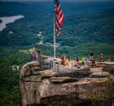 Free Photo - USA flag on top of cliff