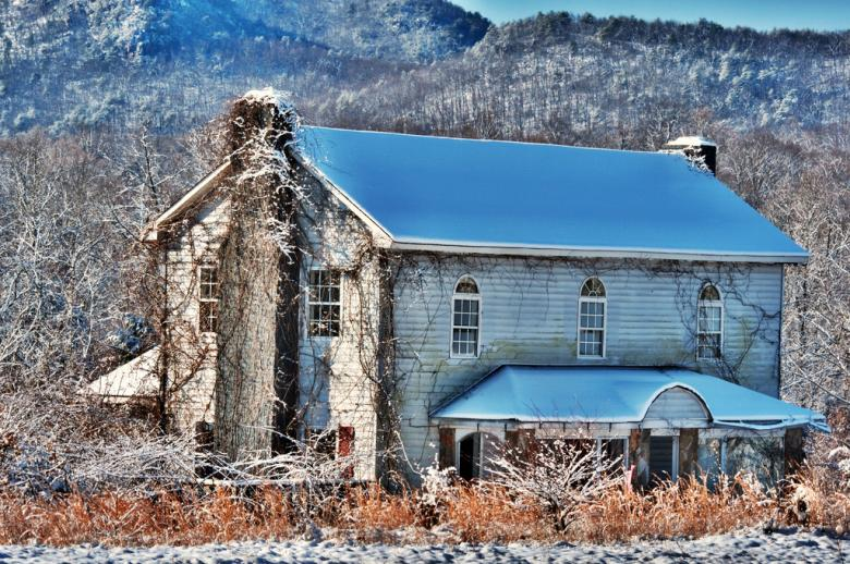 Free Stock Photo of Old abandoned estate in winter Created by agphotostock.com