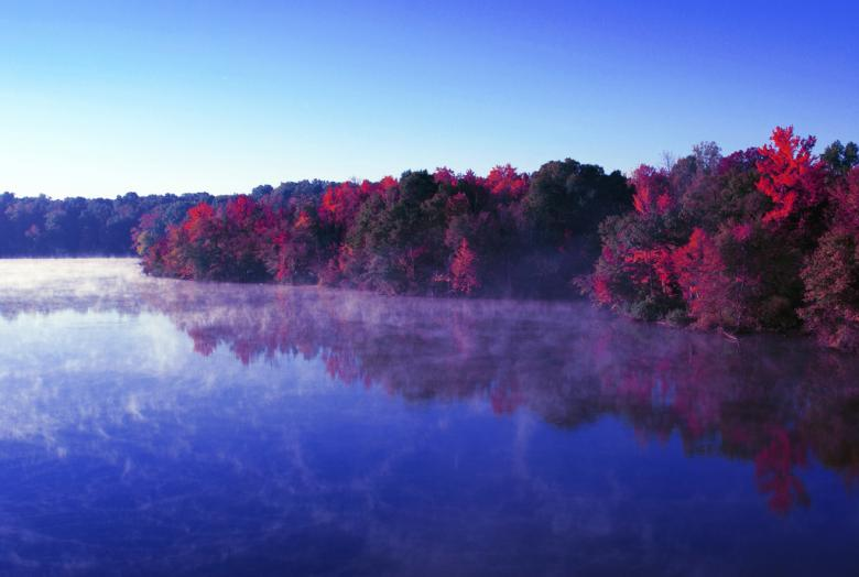 Free Stock Photo of River autumn reflections Created by agphotostock.com