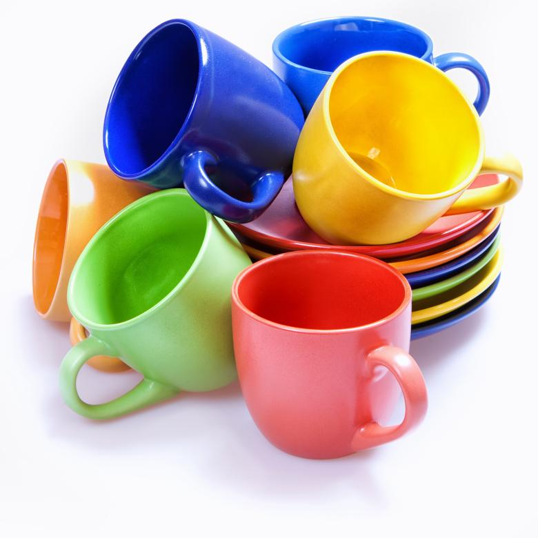 Colorful cups - Free Colorful Stock Photos