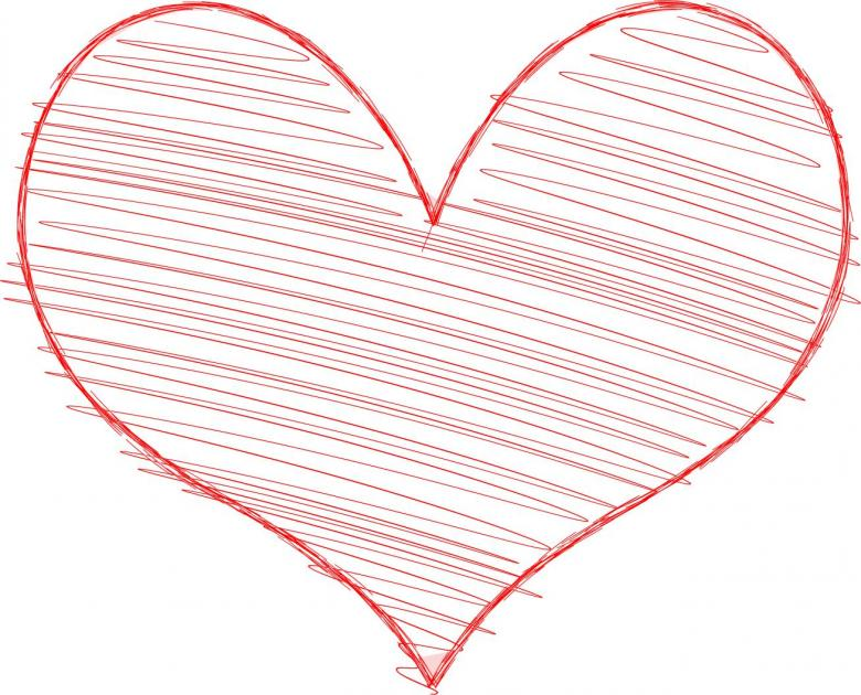 Free Stock Photo of Heart with Scribble Fill Created by Ian L