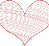Free Photo - Heart with Scribble Fill