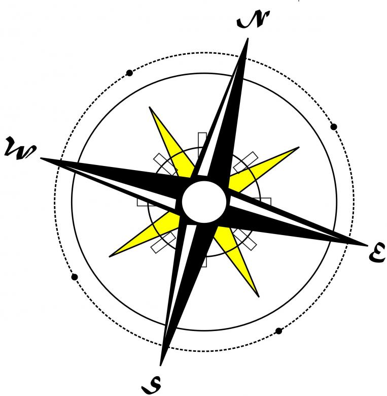 Free Stock Photo of Compass Illustration Created by Ivan