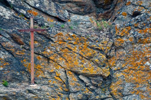 Cliff Cross - HDR - Free Stock Photo