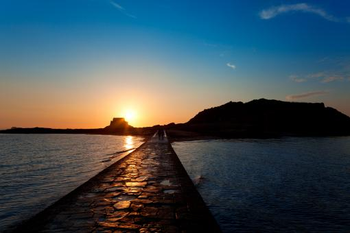 Saint-Malo Sunset Scenery - Free Stock Photo