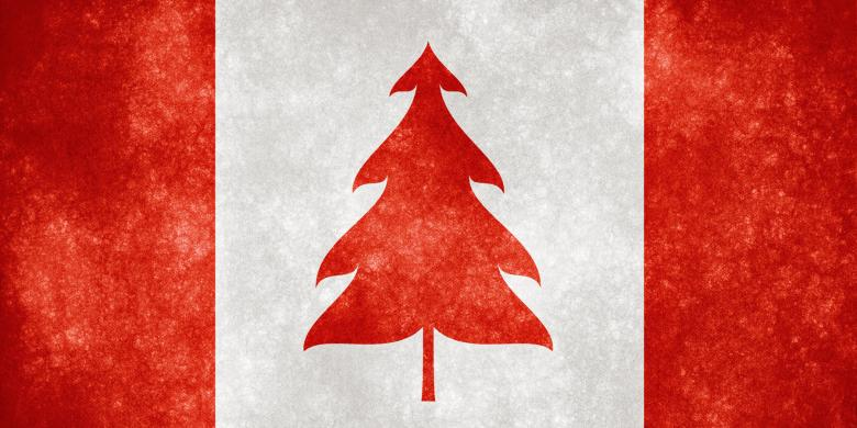 Free Stock Photo of Canada Grunge Flag - Christmas Tree Created by Nicolas Raymond