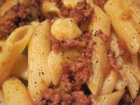 Home baked pasta with chopped meat - Free Stock Photo