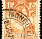 Free Photo - Orange King George VI Stamp