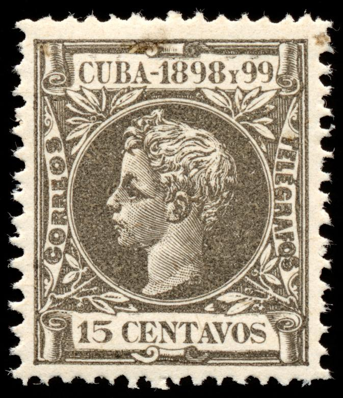 Free Stock Photo of Grey King Alfonso XIII Stamp Created by Nicolas Raymond