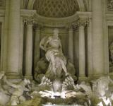 Free Photo - Trevi fountain in Rome at night
