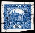 Free Photo - Blue Hradcany Castle Stamp